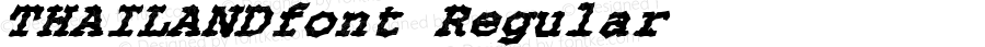 THAILANDfont Regular Altsys Fontographer 3.5  4/4/01