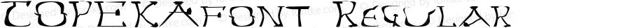 TOPEKAfont Regular Altsys Fontographer 3.5  4/4/01