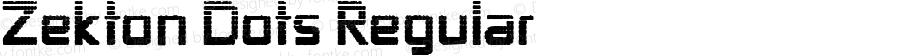 Zekton Dots Regular Version 1.0; 2000; initial release