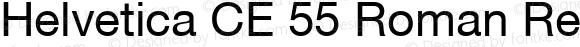 Helvetica CE 55 Roman Regular 001.001