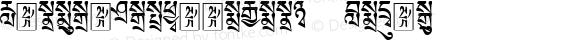 TibetanMachineWeb1 Regular Version 1.0; 2001; initial release