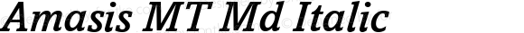 Amasis MT Md Italic Version 1.00