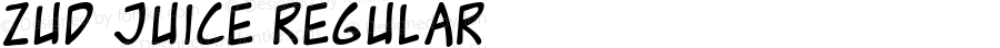 Zud Juice Regular Macromedia Fontographer 4.1 5/17/01