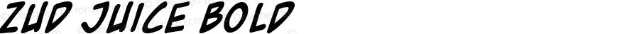 Zud Juice Bold Macromedia Fontographer 4.1 5/17/01