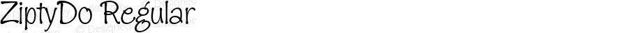 ZiptyDo Regular Macromedia Fontographer 4.1 3/31/01