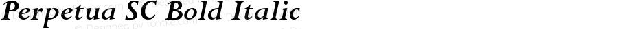Perpetua SC Bold Italic Version 1.00