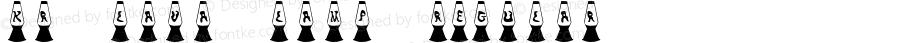 KR Lava Lamp Regular Macromedia Fontographer 4.1 06/21/2001