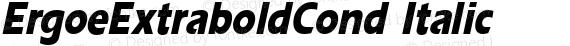 ErgoeExtraboldCond Italic preview image