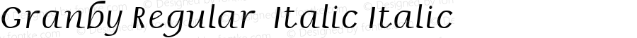 Granby Regular  Italic Italic Unknown