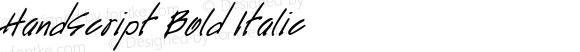 HandScript Bold Italic The IMSI MasterFonts Collection, tm 1995, 1996 IMSI (International Microcomputer Software Inc.)