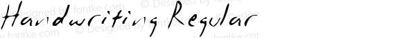 Handwriting Regular MS core font:V1.00