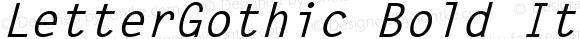 LetterGothic Bold Italic