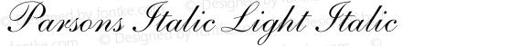 Parsons Italic Light Italic Unknown