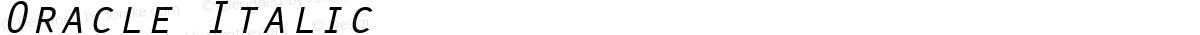 Oracle Italic