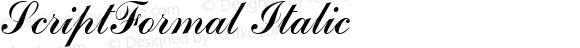 ScriptFormal Italic