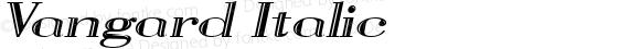 Vangard Italic