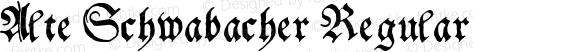 Alte Schwabacher Regular Macromedia Fontographer 4.1 5/10/97