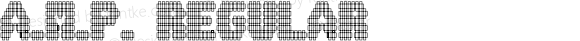 A.M.P. Regular Macromedia Fontographer 4.1 8/14/01