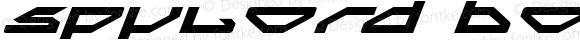 Spylord Bold Expanded Italic BoldExpandedItalic