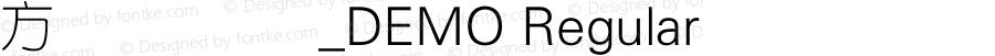方正细圆简体_DEMO Regular 4.00