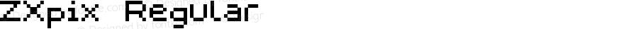 ZXpix Regular Macromedia Fontographer 4.1 04.09.01