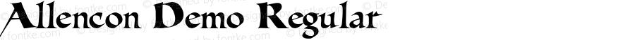 Allencon Demo Regular Macromedia Fontographer 4.1.4 9/7/01