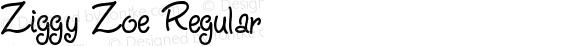Ziggy Zoe Regular Version 1.0; 2001; initial release