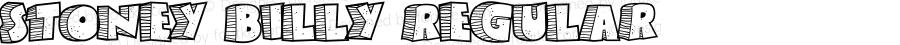 Stoney Billy Regular Macromedia Fontographer 4.1.3 9/12/01