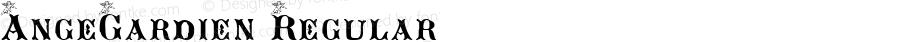 AngeGardien Regular Match Software Font  9/15/01