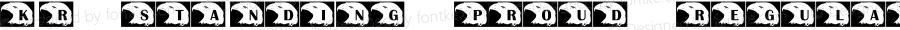 KR Standing Proud Regular Macromedia Fontographer 4.1 09/18/2001
