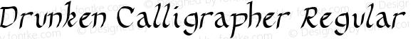 Drunken Calligrapher Regular 1.00 -- 01 Oct 2001