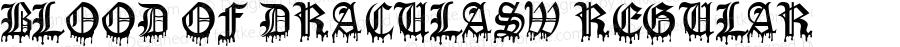 Blood Of DraculaSW Regular Macromedia Fontographer 4.1.5 10/2/01