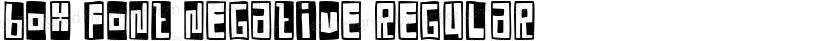 Box Font Negative Regular Preview Image