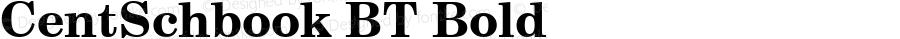 CentSchbook BT Bold