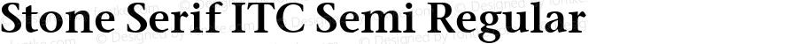 Stone Serif ITC Semi Regular Version 2.0