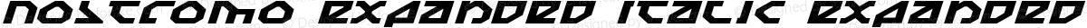 Nostromo Expanded Italic Expanded Italic