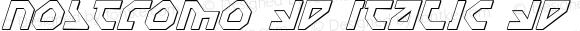 Nostromo 3D Italic 3D Italic