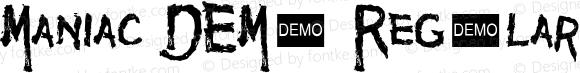 Maniac DEMO Regular 1.2  Demo