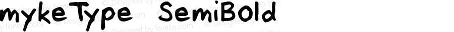 mykeType SemiBold