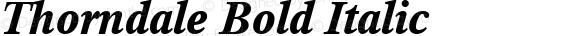 Thorndale Bold Italic