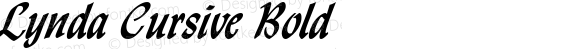 Lynda Cursive Bold Altsys Fontographer 4.1 1/8/95