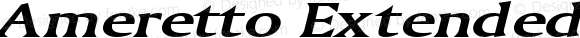 Ameretto Extended BoldItalic Altsys Fontographer 4.1 1/30/95