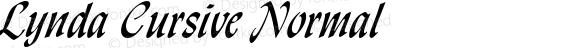 Lynda Cursive Normal Altsys Fontographer 4.1 1/8/95