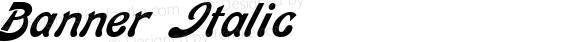 Banner Italic