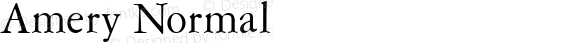 Amery Normal Altsys Fontographer 4.1 1/30/95