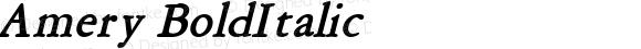 Amery BoldItalic