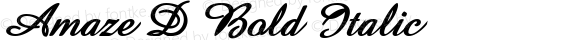 Amaze D Bold Italic preview image