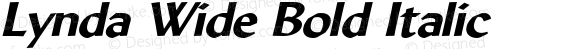 Lynda Wide Bold Italic 1.0 Wed Jul 28 13:08:01 1993