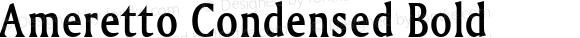 Ameretto Condensed Bold Altsys Fontographer 4.1 1/30/95