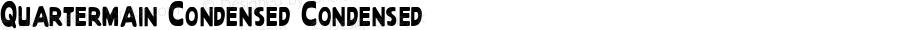 Quartermain Condensed Condensed 1